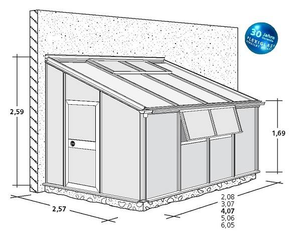 krieger anlehn gew chshaus floratherm 257 ansehen. Black Bedroom Furniture Sets. Home Design Ideas